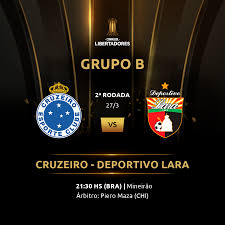 Cruzeiro vence Deportivo Lara e assume liderança do grupo B