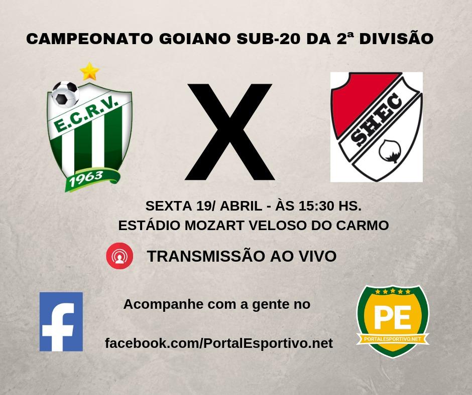 Rio Verde e Santa Helena jogarão no feriado valendo liderança no Goiano Sub-20 da 2ª Divisão