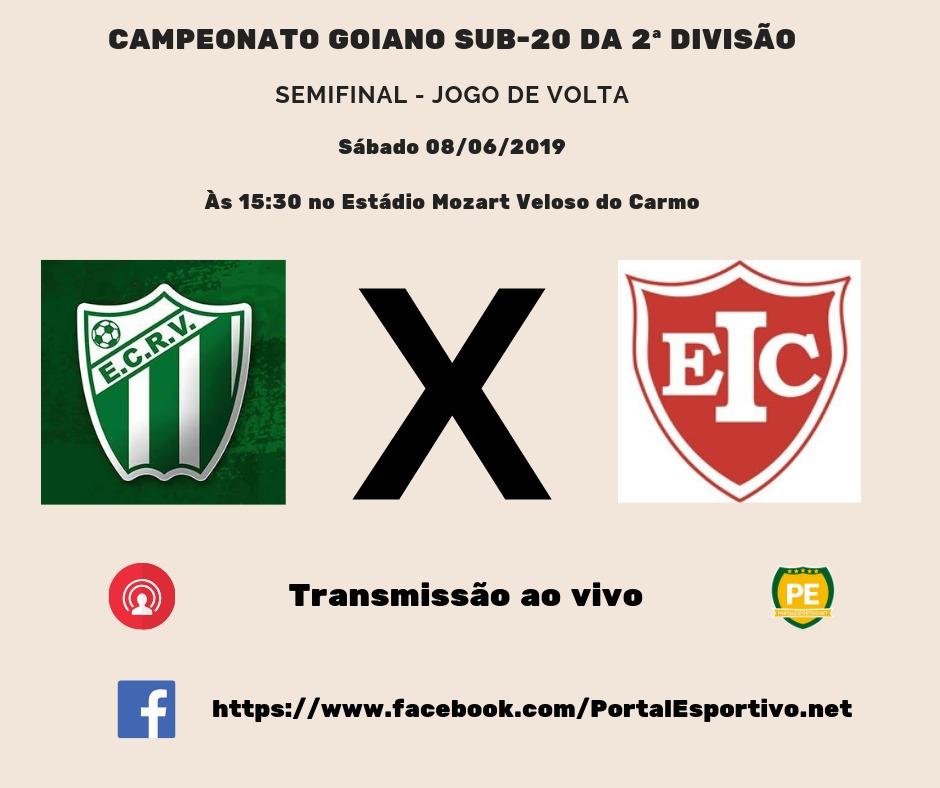 Rio Verde e Inhumas decidirão hoje uma vaga na Final do Goiano Sub-20 da 2ª Divisão