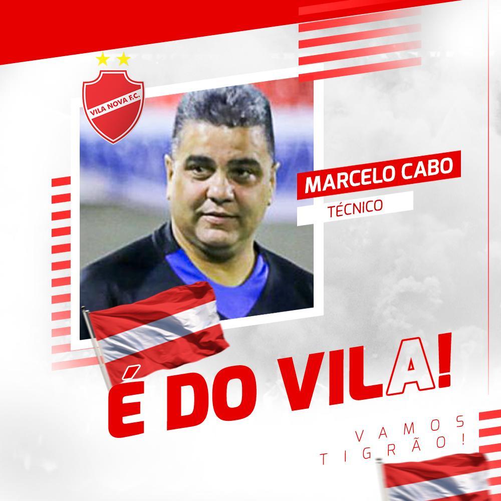 Vila Nova confirma o técnico Marcelo Cabo para a sequência da Série B
