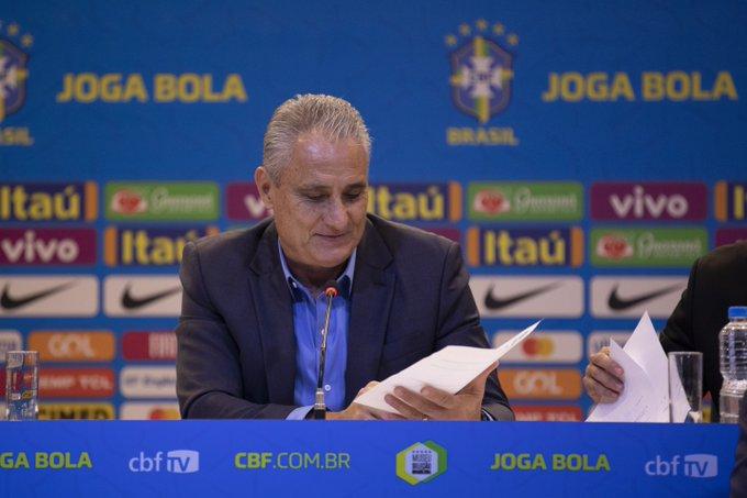 Tite convoca o Brasil para os amistosos em setembro