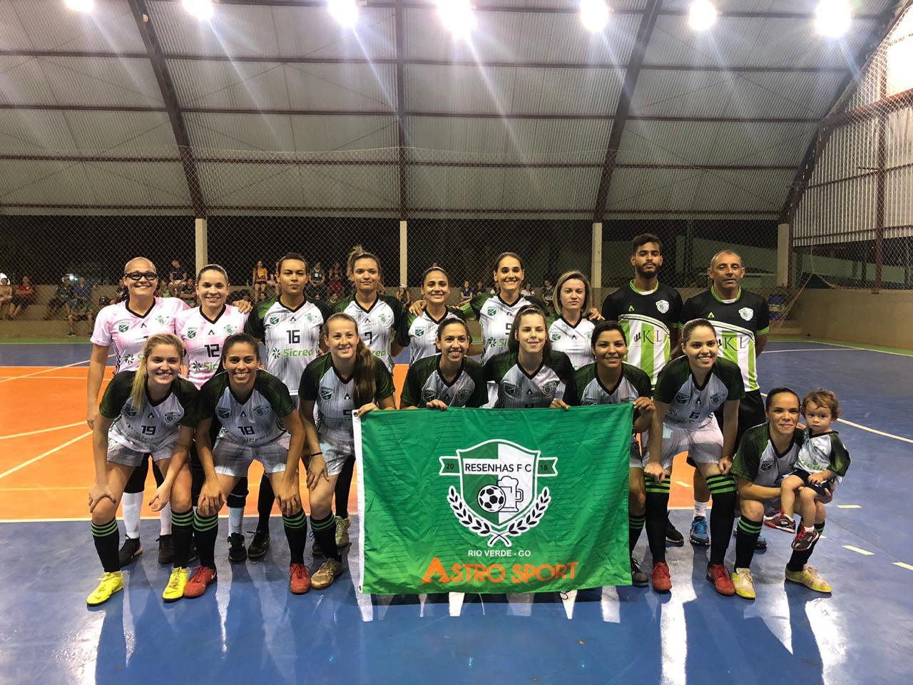 Clube Campestre/Resenhas está na final do Campeonato Goiano de Futsal Feminino