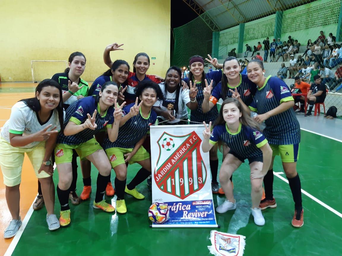 Jardim América conquista mais um Campeonato Rio-verdense de Futsal Feminino