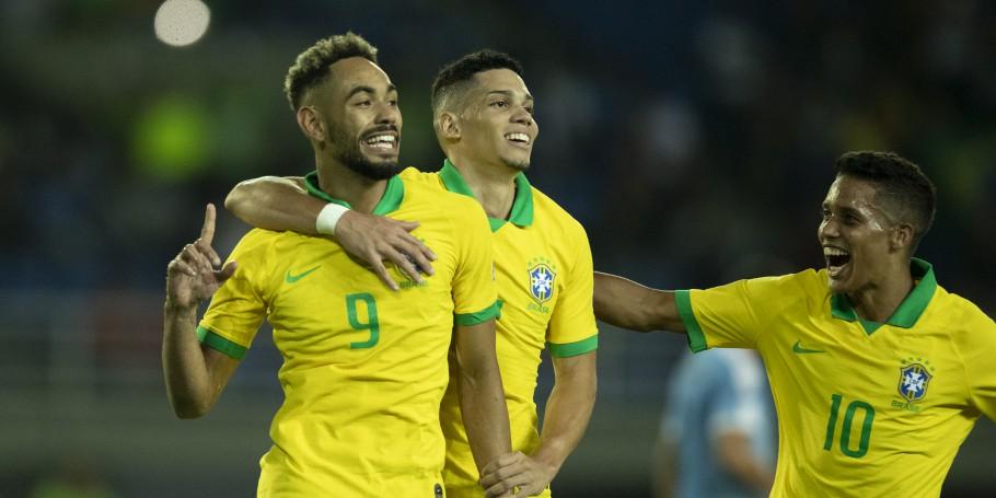 Brasil vence o Uruguai e lidera seu grupo no Torneio Pré-Olímpico