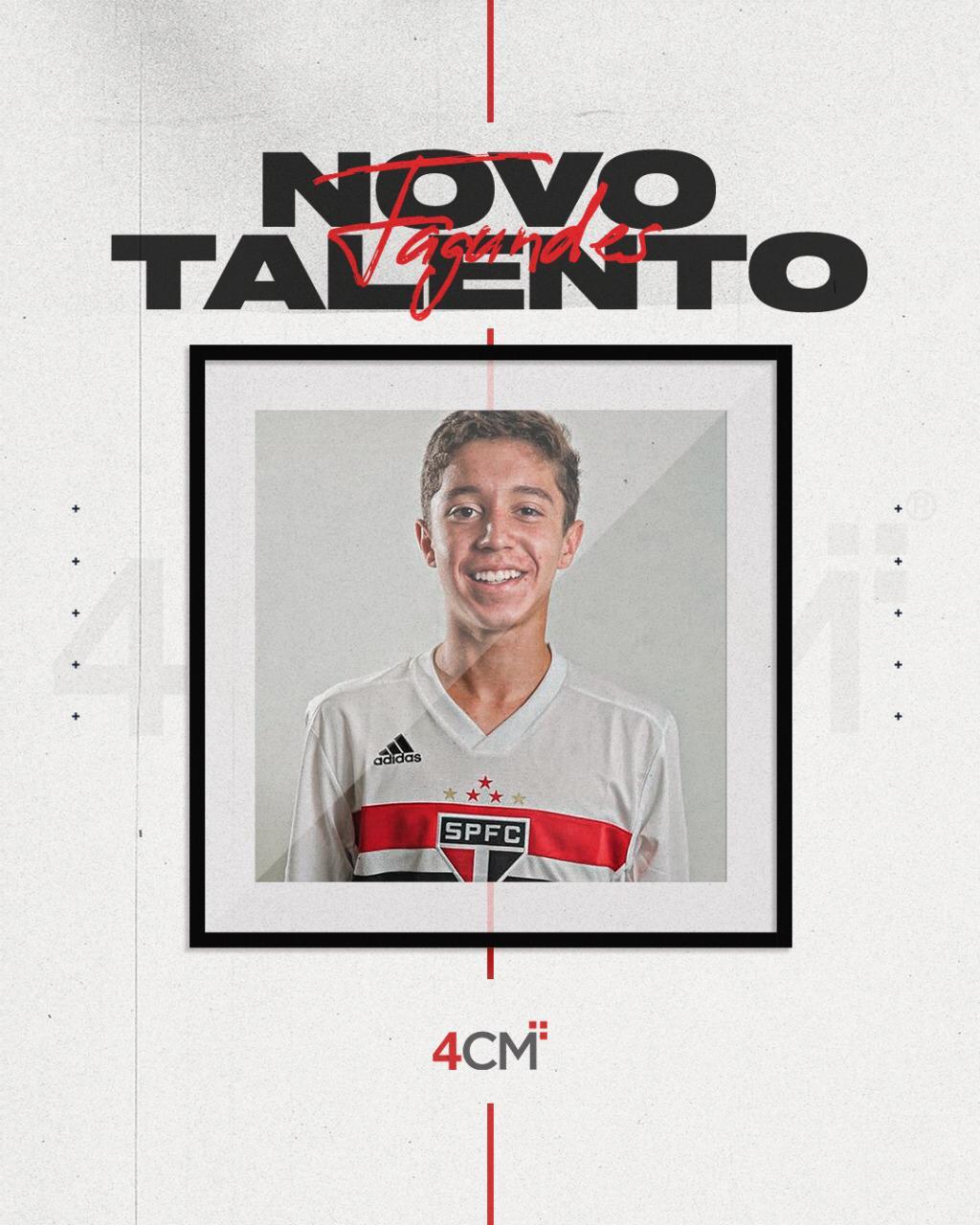 Jogador rio-verdense que está no São Paulo fecha com empresa que agencia Lucas Moura e Gabigol