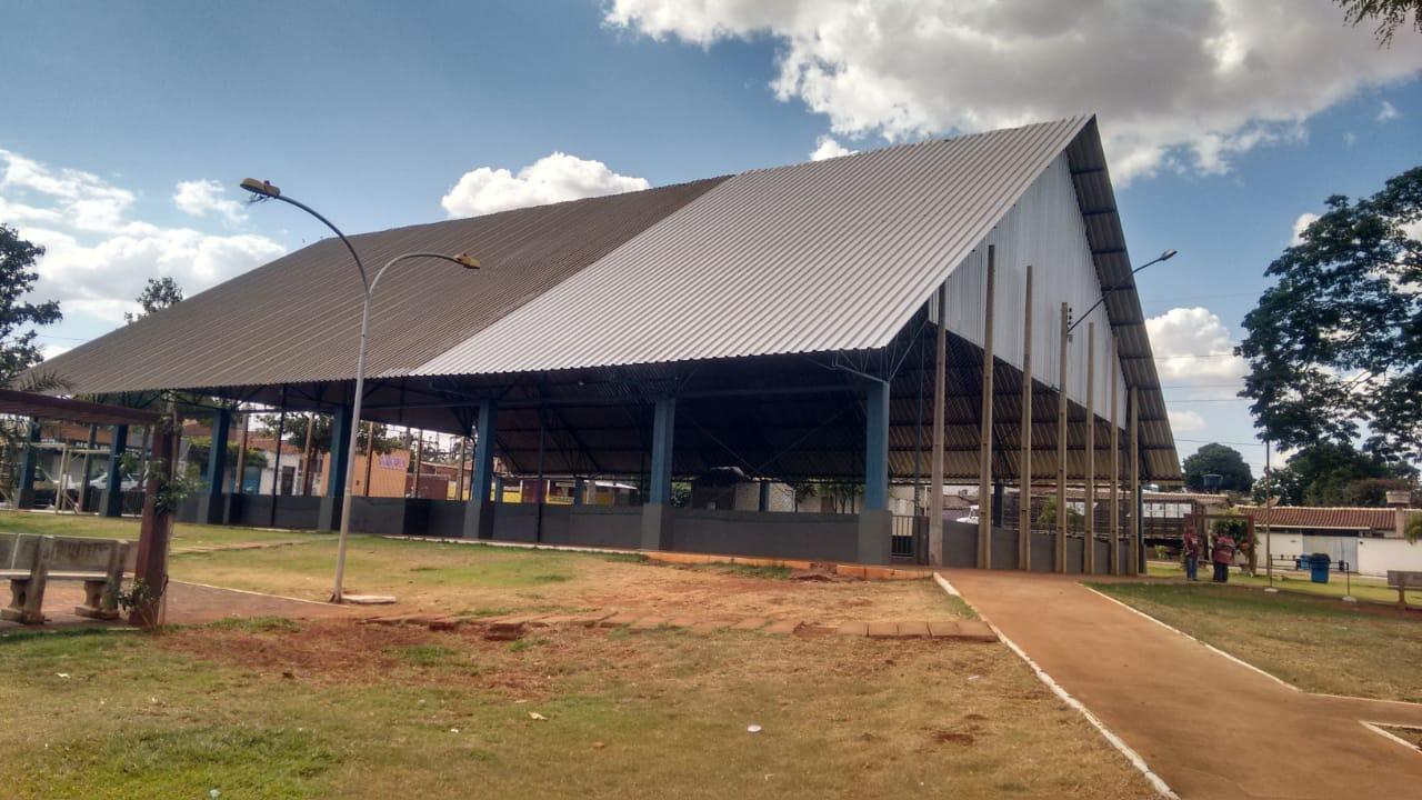 Quadra da Vila Mutirão está praticamente pronta para receber jogos