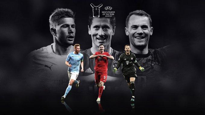 De Bruyne, Neuer e Lewandowski são os finalistas para melhor jogador do mundo