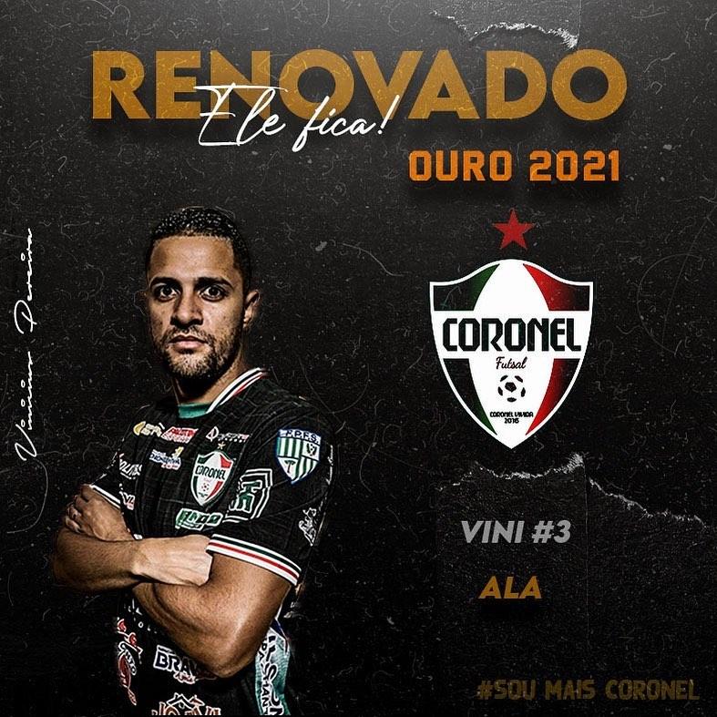 Futsal: Ala Rio-Verdense Vinicius continuará atuando no futsal paranaense