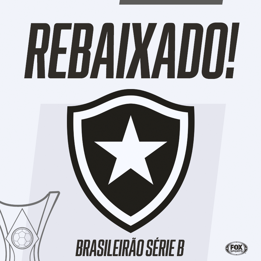Botafogo perde e está rebaixado para a Série B