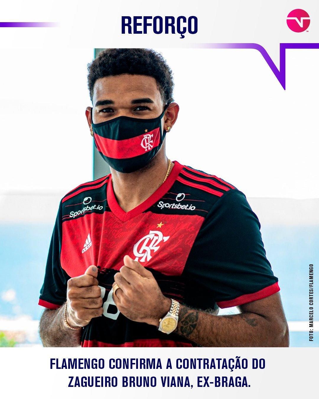 Flamengo confirma zagueiro que estava no futebol português