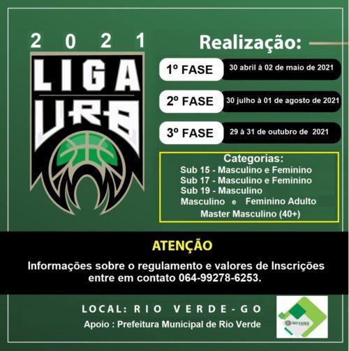 Primeira etapa da Liga URB de Basquete em Rio Verde é adiada