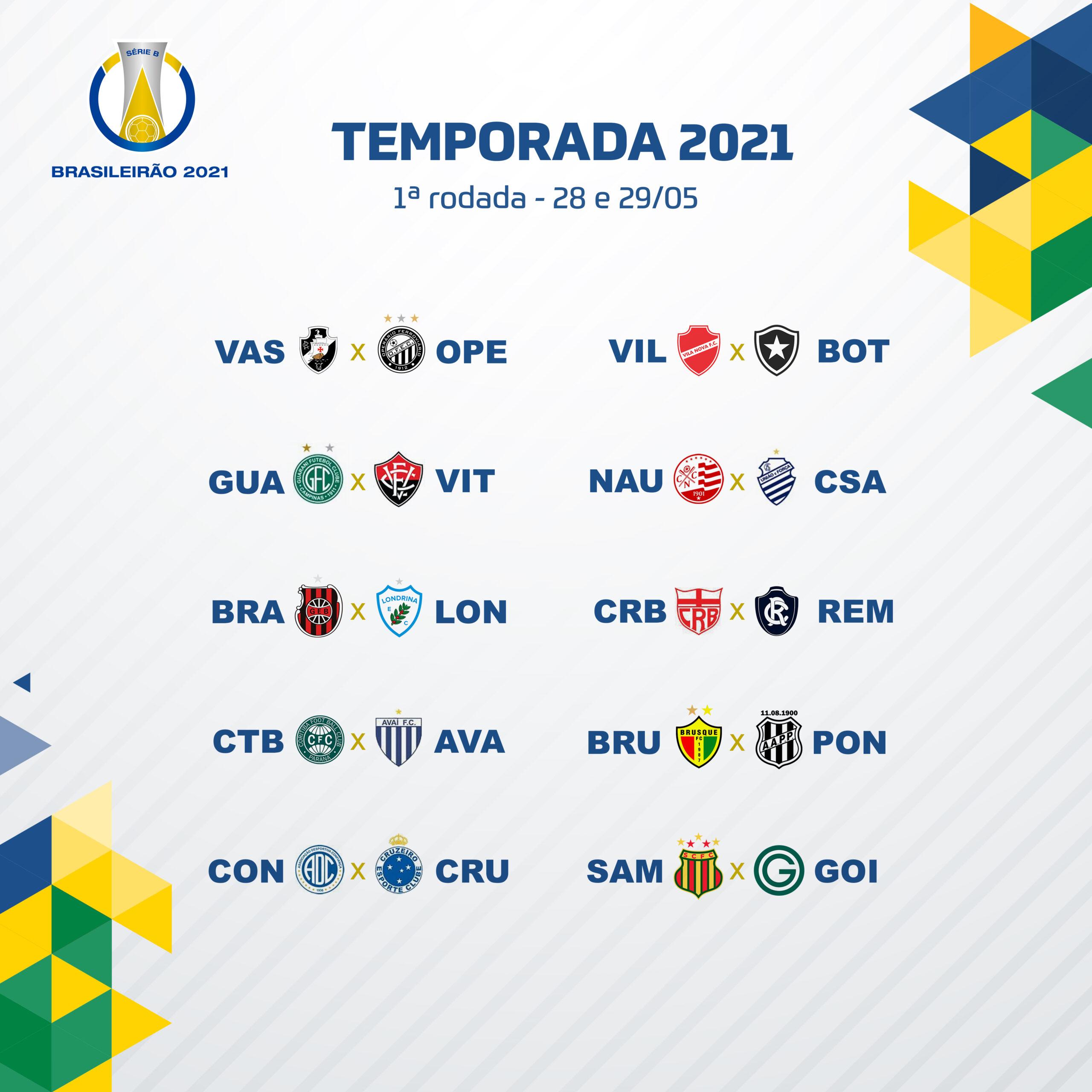 Confira os jogos da primeira rodada do Brasileirão Série B