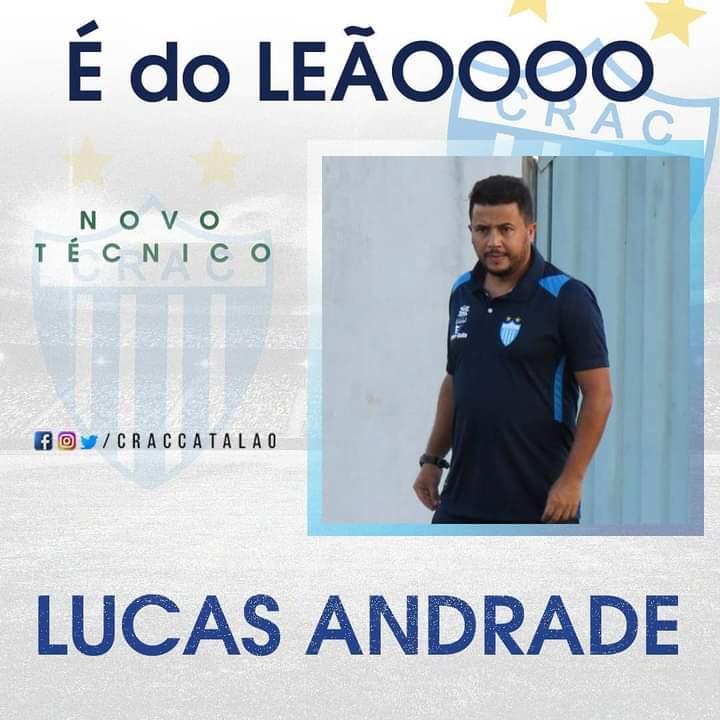 Crac oficializa Lucas Andrade como treinador