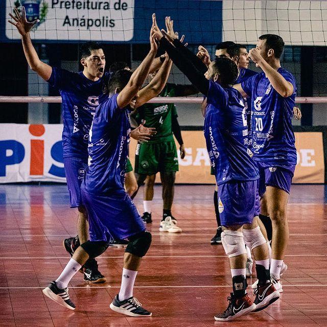 Anápolis Vôlei vence o Brasília e se classifica em 3º na Superliga B