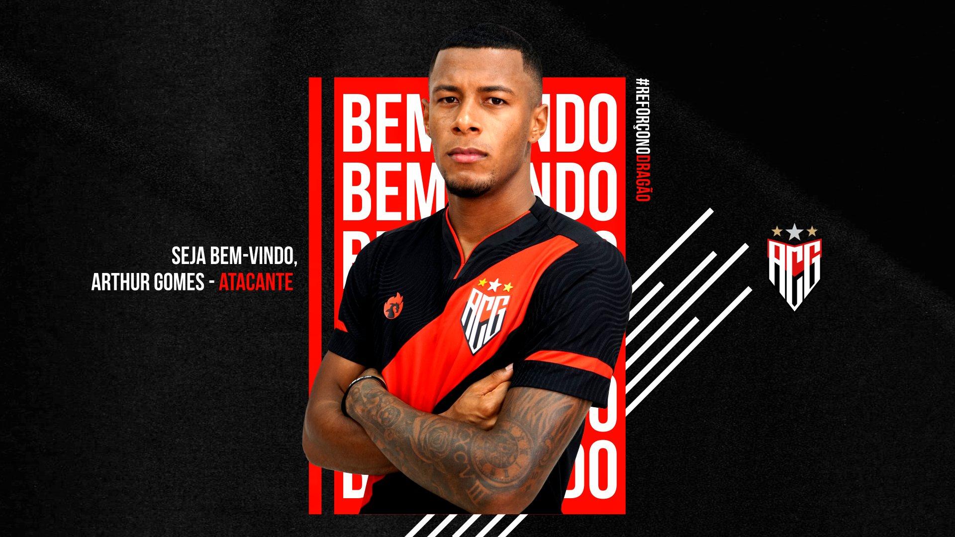 Atlético Goianiense oficializa chegada de atacante do Santos