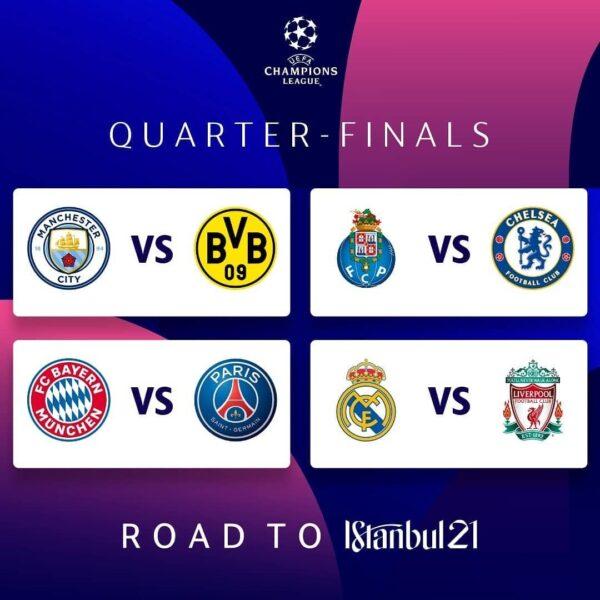 Estão definidos os confrontos das 4ª da de final da Champions League e da Europa League