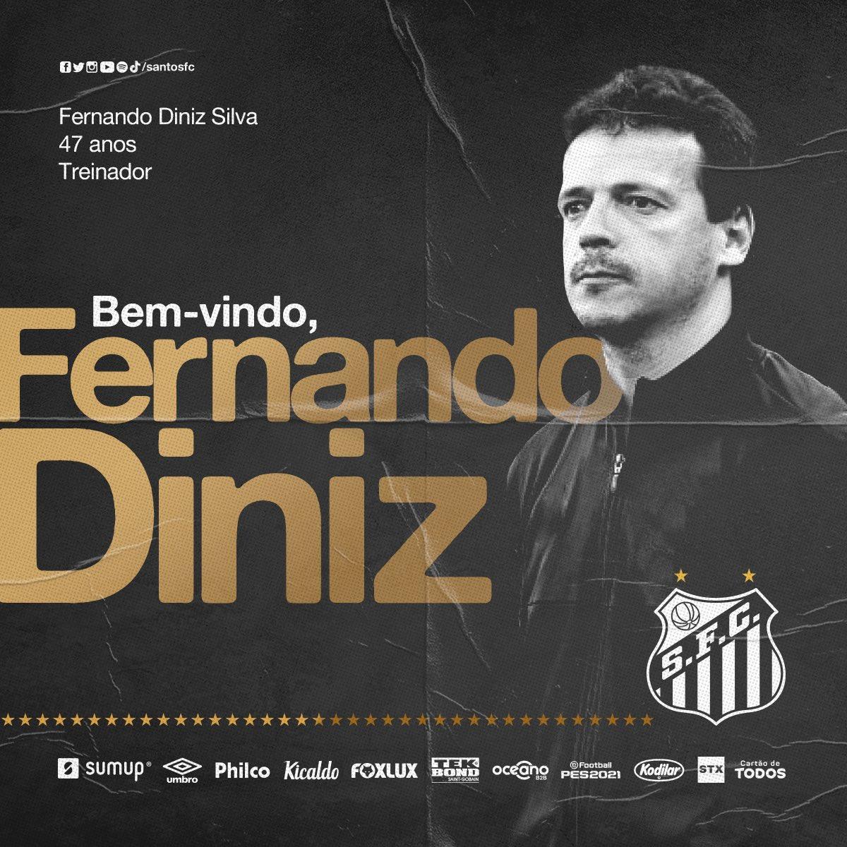 Fernando Diniz é o novo treinador do Santos