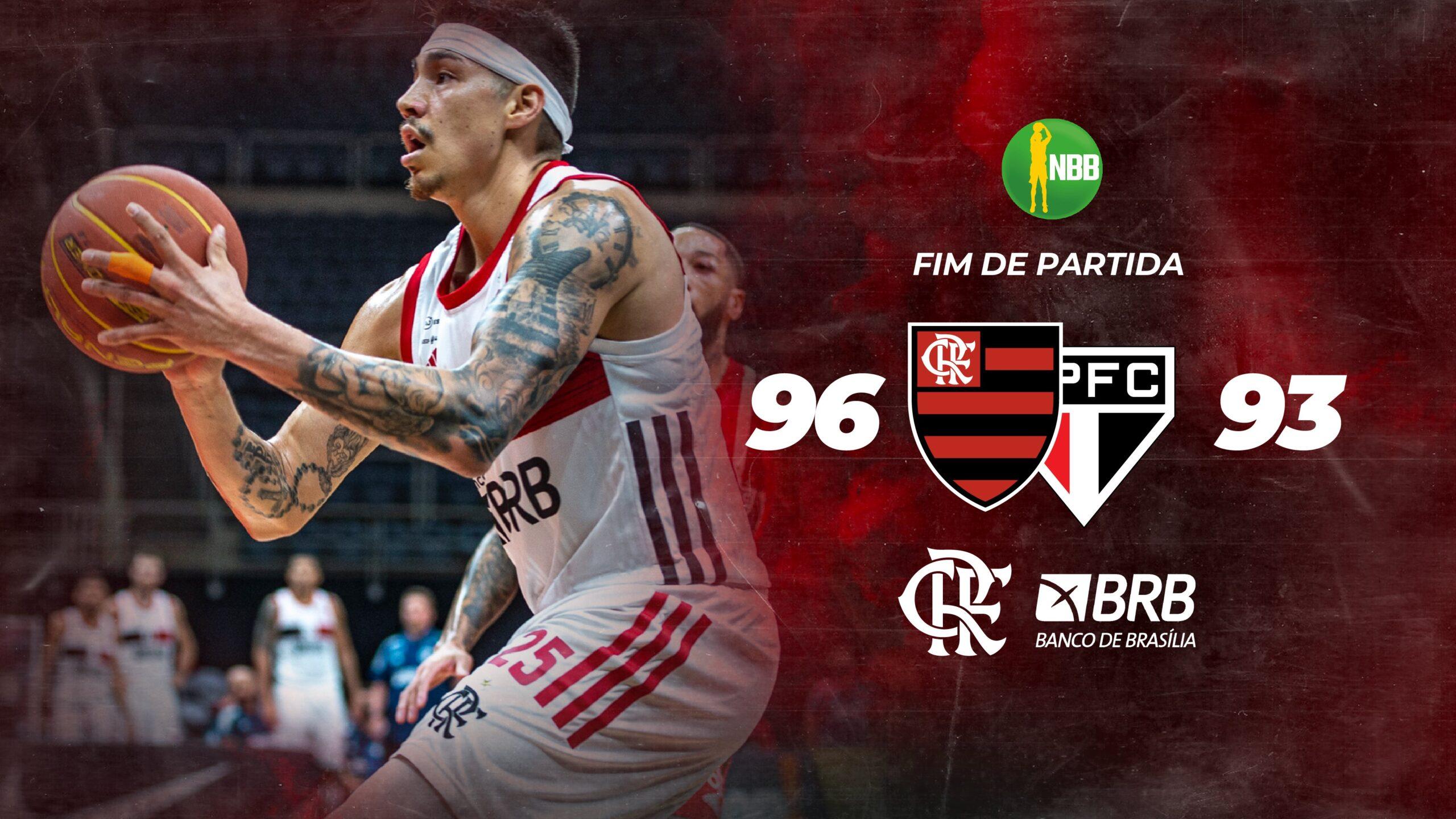 Flamengo vence o São Paulo no jogo 1 da final do NBB