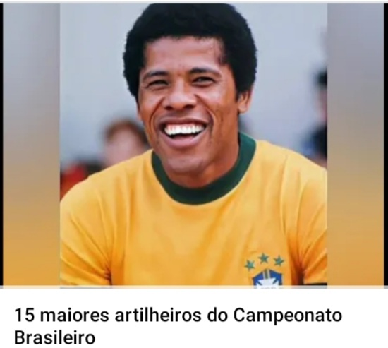 Canal do PE no Youtube fala dos 15 maiores artilheiros do Campeonato Brasileiro