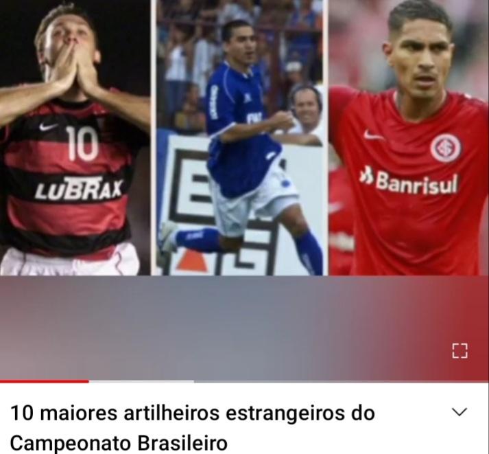 Canal do PE lança vídeo com os 10 maiores estrangeiros do Campeonato Brasileiro