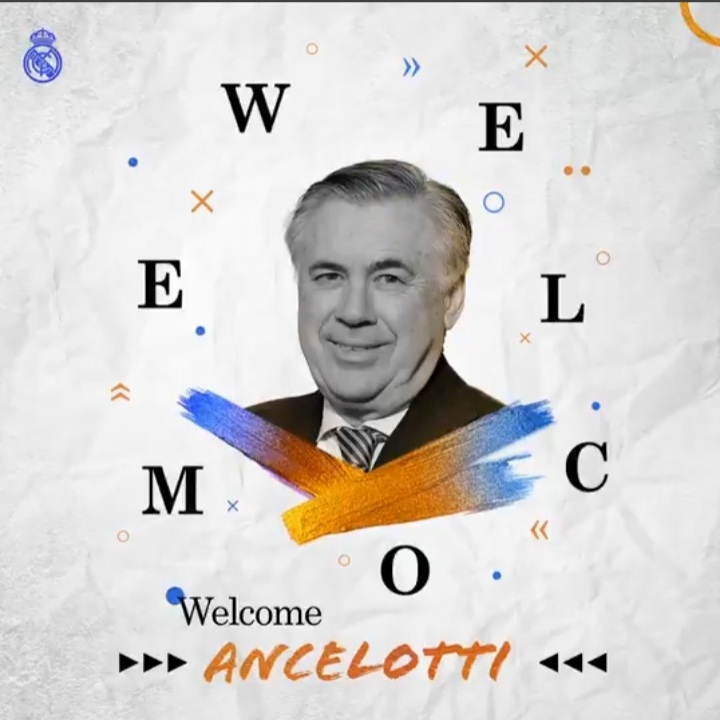 Real Madrid confirma Carlos Ancelotti como novo treinador