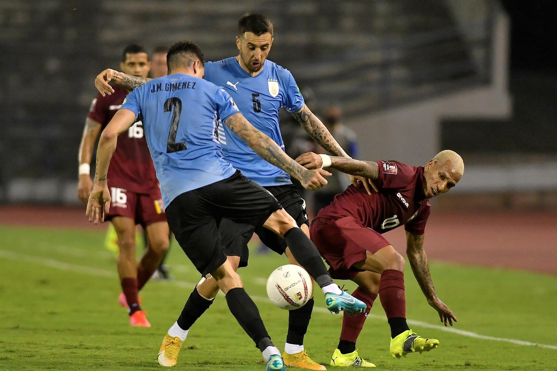 Venezuela e Uruguai ficam no empate