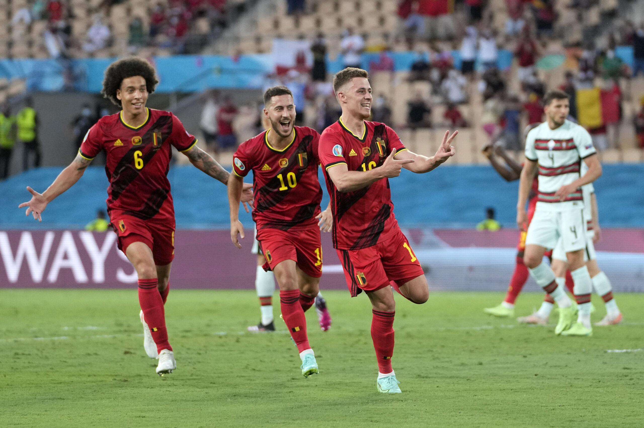 Bélgica passa por Portugal e está nas quartas de final da Eurocopa