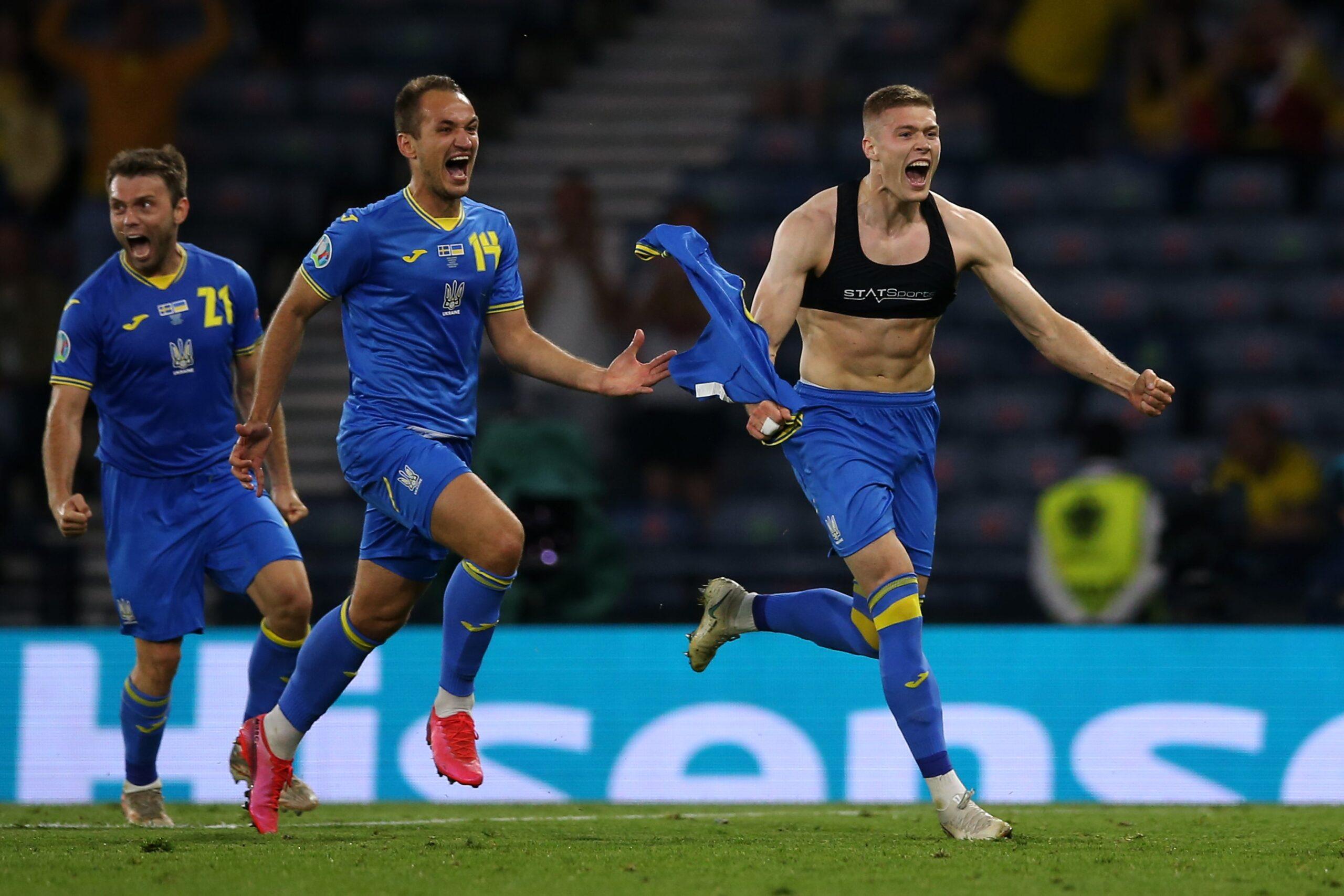 Na prorrogação Ucrânia vence a Suécia e se classifica