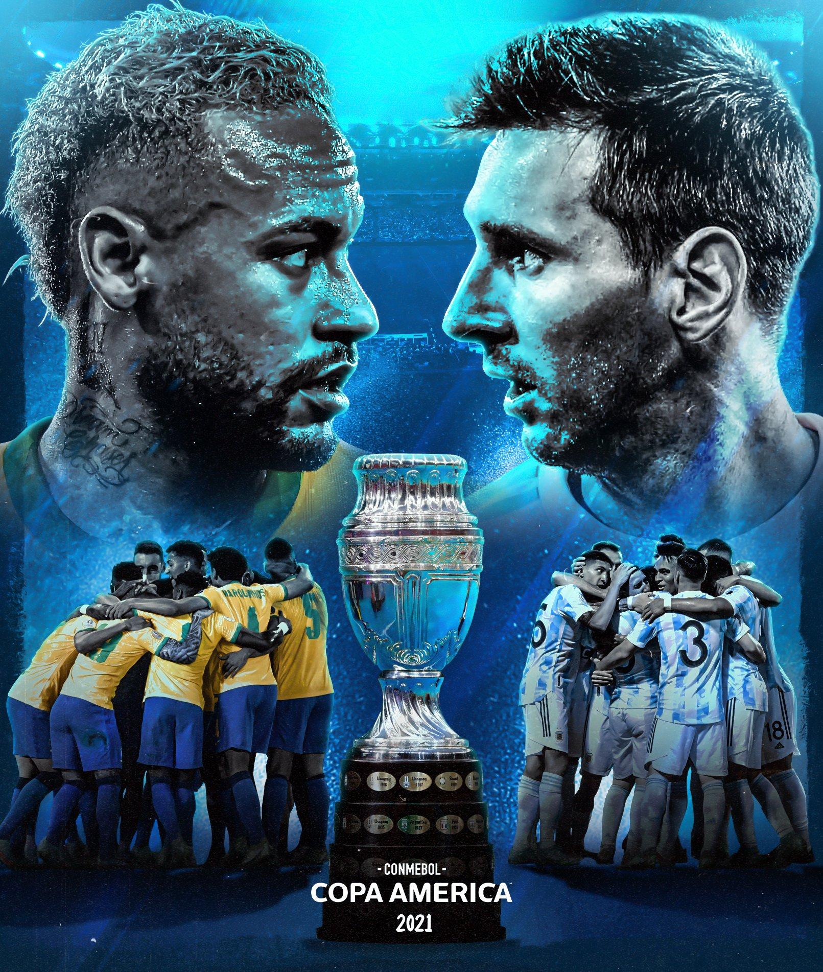Argentina e Brasil decidirão a Copa América