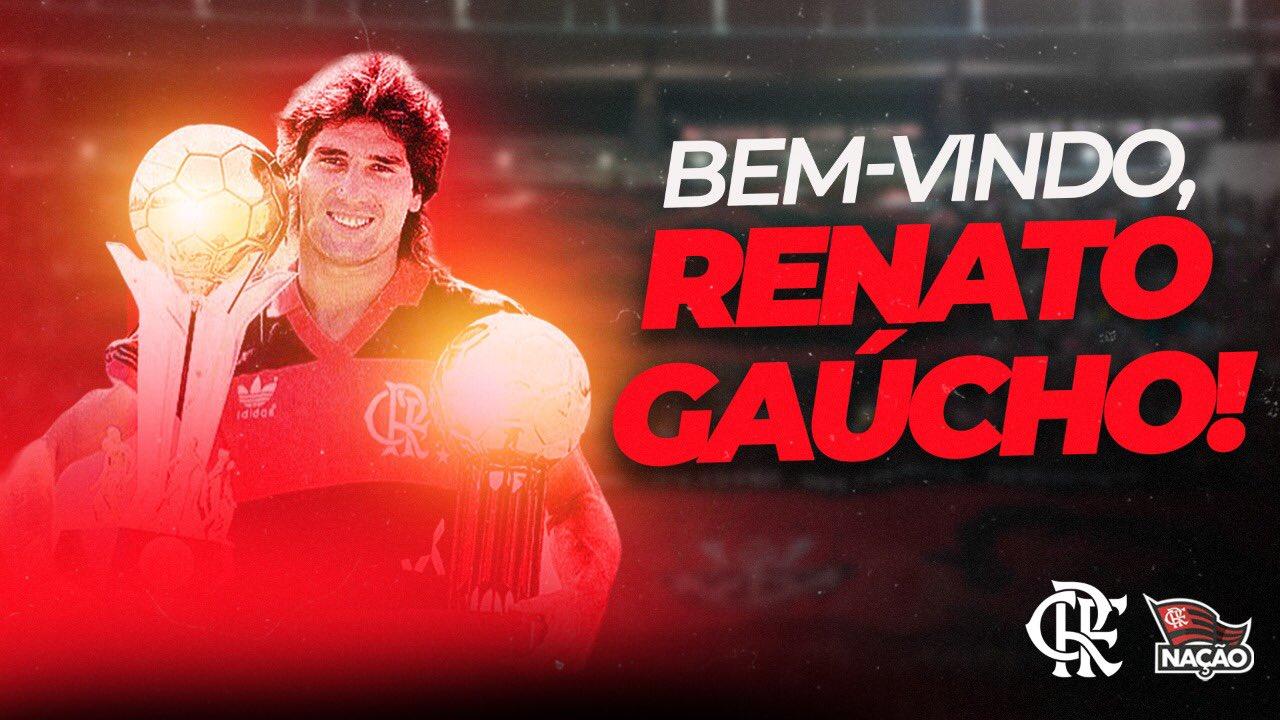 Renato Gaúcho é o novo treinador do Flamengo
