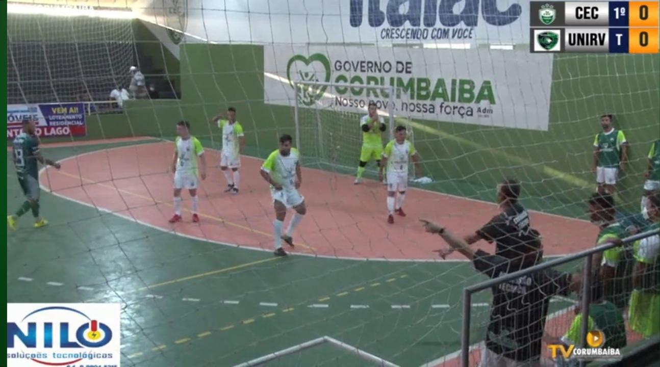 Unirv é goleado pelo Corumbaíba na Copa Goiás de Futsal
