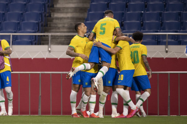 Brasil terá pela frente o México na semifinal do futebol masculino