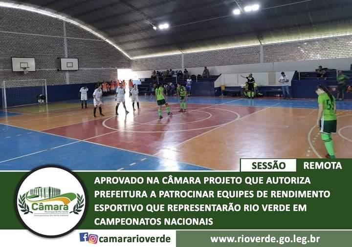 Equipes irão receber patrocínio da prefeitura de Rio Verde