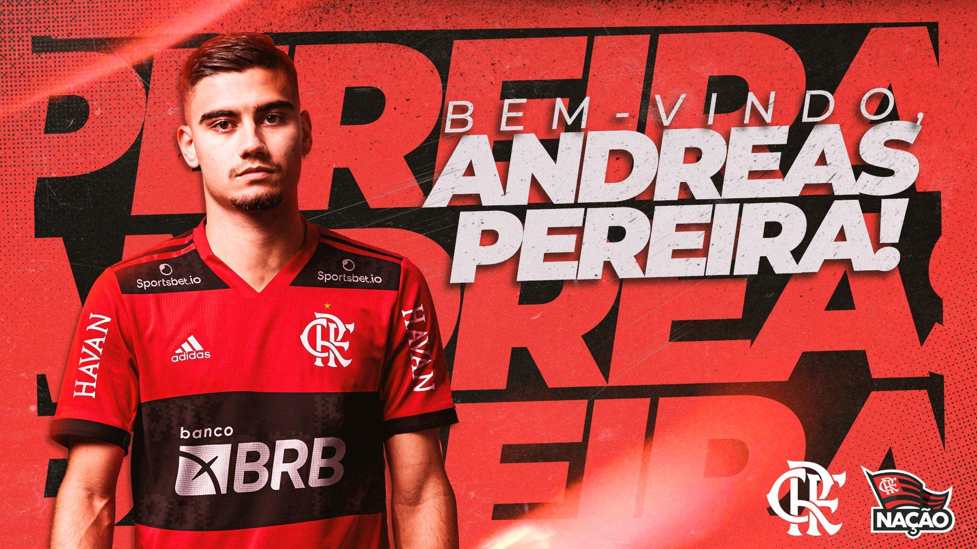 Flamengo acerta com Andreas Pereira e confirma venda de atacante
