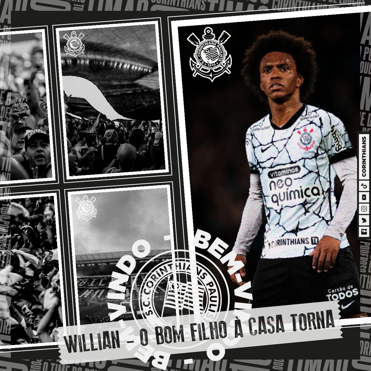 Corinthians confirma retorno do meia William