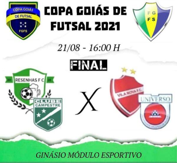 Campestre/Resenhas e Vila Nova se enfrentarão hoje no duelo de volta da final da Copa Goiás