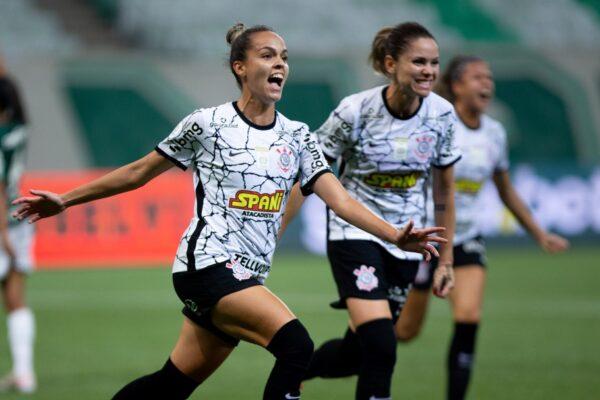 Corinthians vence o Palmeiras no jogo de ida da final do Brasileirão Feminino
